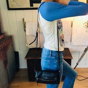 ♥️ Kate Spade ♥️ Black Leather Crossbody Bag